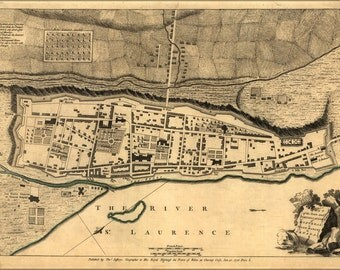 16x24 Poster; Map Of Fortifications Of Montreal Canada 1768