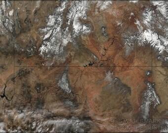 16x24 Poster; Grand Canyon Satellite Image