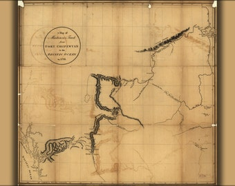 16x24 Poster; Mackenzie Map Ft Chipewyan To Pacific Ocean 1793