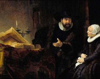 16x24 Poster; Mennonite Preacher Anslo And His Wife Rembrandt