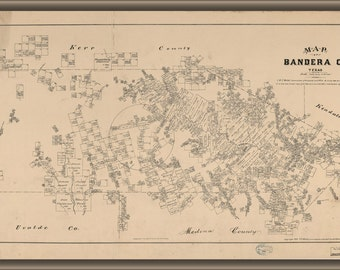 16x24 Poster; Map Of Bandera County, Texas 1879