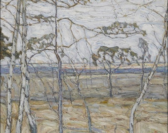 16x24 Poster; Abraham Manievich Birch Trees