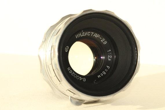 INDUSTAR-29 80mm f2.8 m42 lens for old SALUT medium format camera N6400268