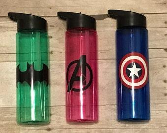 Superhero Bottle Etsy