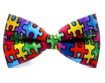 Autism Awareness Bow Tie   Bow Tie for Men   Kids Bow Tie   Bowtie   Self Tie   Dog Bow Tie   Mens Bow Tie   Boys Bow Tie   Teacher Gift
