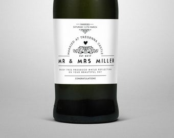 Prosecco personalised label, Prosecco, Wedding gift, wine label, replacement labels, gift for her, wedding decor, champagne labels, wine