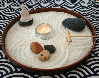 Table Zen garden round shape mindfulness meditation psychotherapy your own way UK