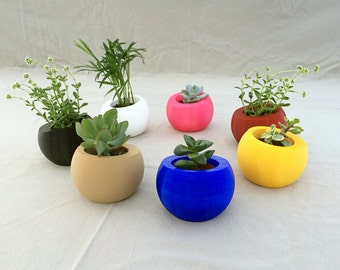 Pot / planter spherical in 3D printing