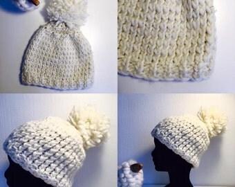 Hat 100% wool and silver lurex thread
