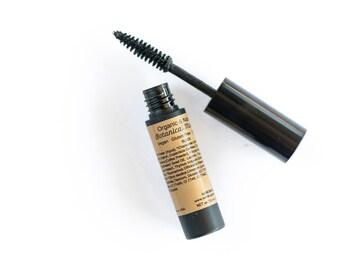 Organic Mascara Black or Brown with  Botanical Ingredients , Vegan, Gluten Free, Cruelty Free