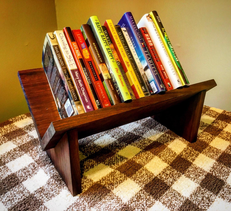 wooden book shelf tabletop book holder rustic book shelf