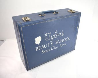 Vintage Tyler Beauty School Suitcase Sioux City Iowa