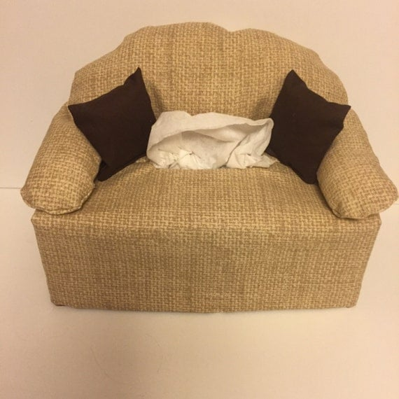 Fabric Sofa Couch Tissue Box Cover Burlap