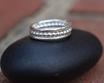 Stacking Rings,  Silver Stack Rings, Stack Rings, Sterling Silver Ring