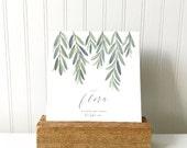 Flora: 2017 Desk Calendar - Calendar with Rustic Stand - Watercolor - Desk Calendar -  Flora - Cactus - reclaimed - 2017 - Calendar