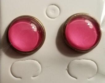 Handmade Pink Glass Bead Earrings