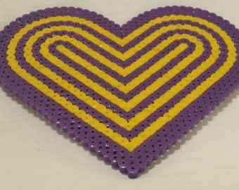 Purple and Yellow Large Single Coaster