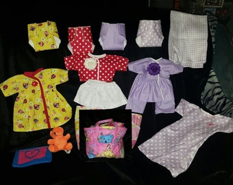 SALE Baby doll diaper bag with accessories