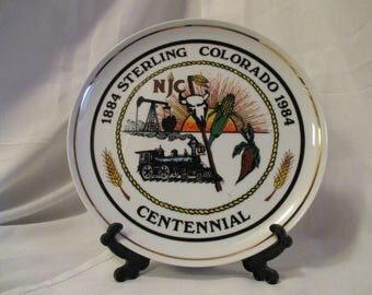 Vintage Sterling Colorado Centennial 1984 Decorative collectible plate