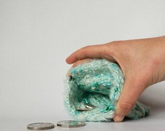 Hand woven coin purse, banana silk yarn, hand dyed, change purse, flex purse, snap purse