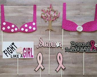 Breast Cancer Inspired Photo Booth Props