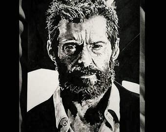 Hugh Jackman as Wolverine - Logan art print