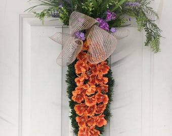 Easter Wreath. Whimsical home decor. Carrot wreath. Spring wreath.
