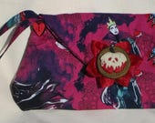 Disney Female Villains clutch purse with custom button