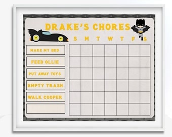 Blank Chore Chart | Etsy  Blank Reward Chart
