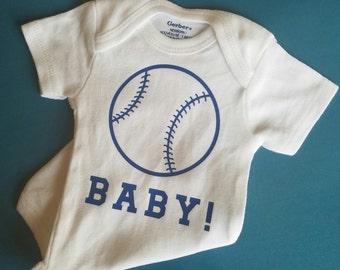 Baseball Baby Clothes, Baseball Baby, Baseball, Baby Shower Gift, Gender Neutral Baby Clothes, Baseball Coach Baby, Baseball Player Baby