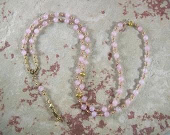 Aphrodite Prayer Beads in Rose Quartz: Greek Goddess of Love and Beauty