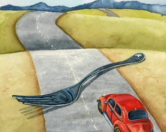 Print of Lynn Wilkerson's Fork In The Road