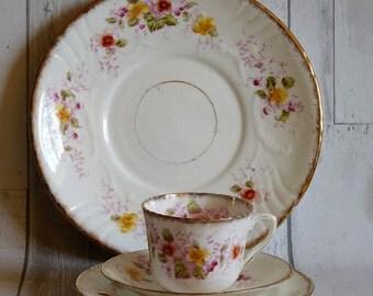 Antique Edwardian Avon English Bone China Floral Tea Set