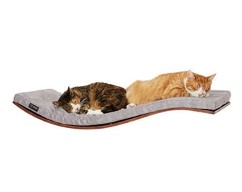 wall wave shelf cat perch cats beds luxury cat bed window bed cat shelf cat shelves cat bed cat furniture, cat supplies, gift for cat lovers