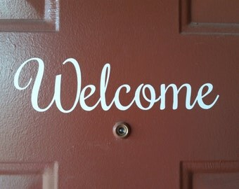 Welcome, See ya later door or home, car, window decal
