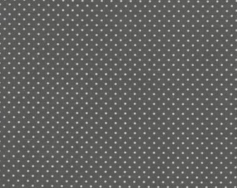 Au maison oilcloth dots charcoal grey black coated cotton