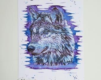 Wolf, wolf print, wolf art, wolf painting, woodland decor, wolves, wolf gifts, wolf wall art, wolf decor, woodland animals, woodland nursery