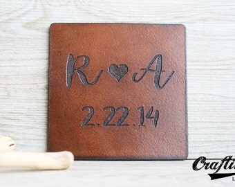 leather wedding anniversary leather coasters 3 year anniversary gifts for her third