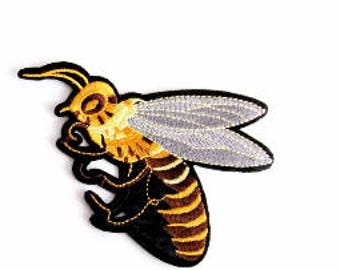 Buccino Iron On BEE Patch,Bee Applique,Iron on Bee,Heat Transfer Bee,Animal Patch,Kid Clothes,Embroidery Bee,DIY Craft,Costume Embellishment