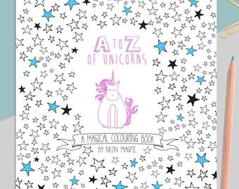 A-Z of Unicorns: A Magical Colouring Book