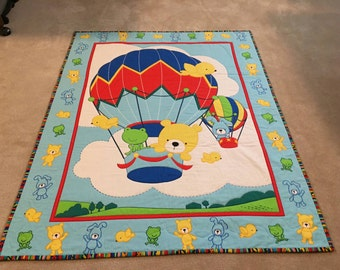 Bears In Flight children's quilt 36x44