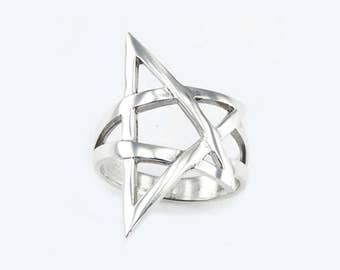 PREORDER !!! 50% off The Witch pentagram silver ring