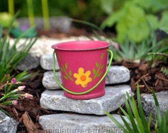 Flower Bucket for Miniature Garden, Fairy Garden