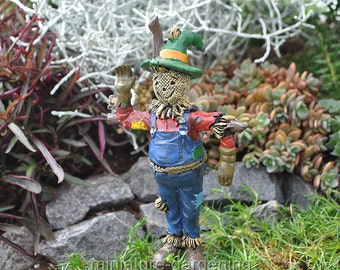 Scarecrow Pick for Miniature Garden, Fairy Garden