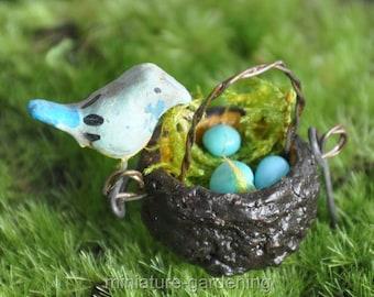 Guarding the Nest for Miniature Garden, Fairy Garden