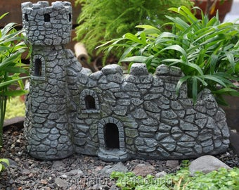 Dragons Keep and Castle, 1 Piece for Miniature Garden, Fairy Garden