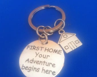 FIRST HOME Your Adventure begins here,  new first home key ring
