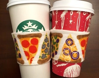 Pizza Coffee Cozy - flannel