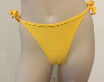 Yellow bathingsuit bottoms