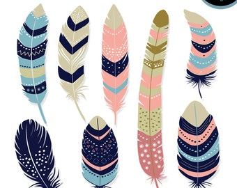 50% Off Sale Feather Cliparts, Feather Digital Silhouettes, Digital Feather, Feather Digital Clip art, Feather Vector, INSTANT DOWNLOAD
